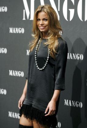 Carla Goyanes en un acto organizado por la firma Mango.