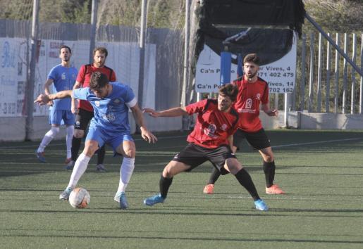 Imagen de un partido entre el Génova y el Sineu de Preferente.