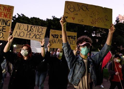 Protestas en Estados Unidos en contra del racismo.