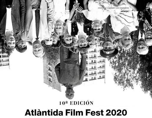 Cartel de la décima edición del Atlàntida Film Fest, obra de Sergio Caballero, autor de la imagen del Sónar.