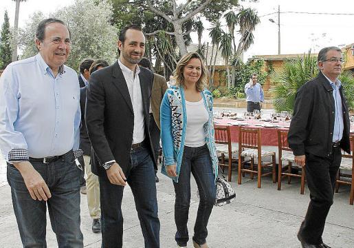 Rodríguez, Bauzá, Salom y Rotger, en una imagen reciente de un acto del PP.