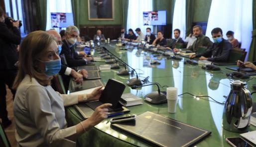 La vicepresidenta segunda del Congreso de los Diputados, Ana Pastor (PP), durante una reunión de la Junta de Portavoces del Congreso, este martes en Madrid.