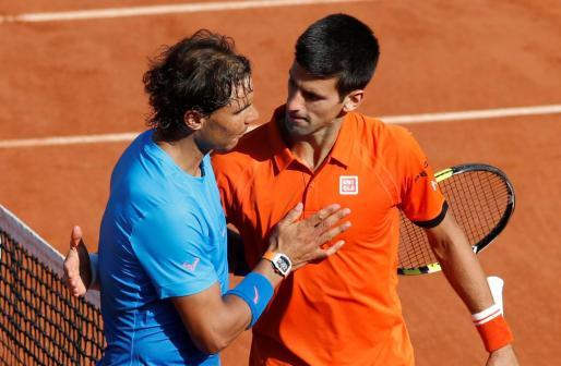Rafa Nadal y Novak Djokovic, en una imagen de archivo.
