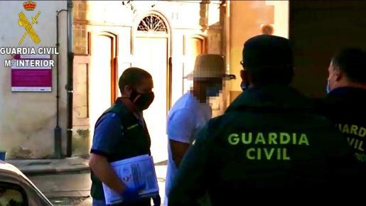El actor Nacho Vidal, detenido por la Guardia Civil.