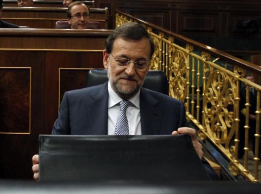 Mariano Rajoy, antes de anunciar las duras medidas.
