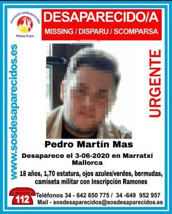 Cartel de la búsqueda del desaparecido.