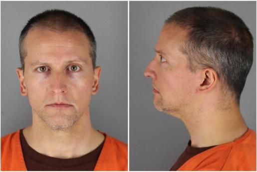 El policía Derek Chauvin tras su detención.