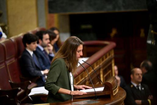 Lucia Muñoz, de Unidad Podemos, en el Congreso.