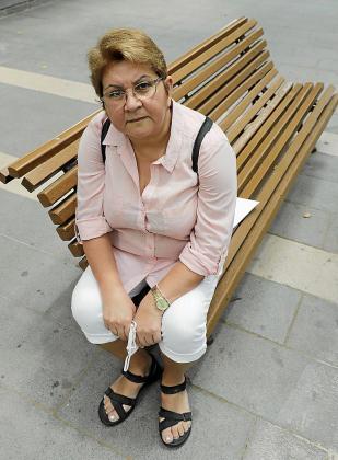 Lidia Barrios, el pasado miércoles, en Palma.