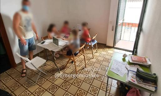 Imagen del interior de la guardería clandestina.