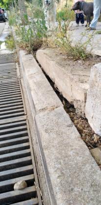 Imagen del mal estado de las calles de La Vileta.