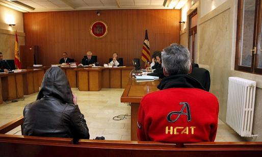Los acusados en el juicio, celebrado el pasado mes de marzo en la Audiencia.