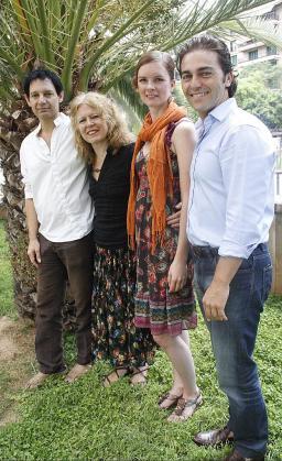 El contratenor Don Krim, las pianistas Suzanne Bradbury y Maria Männikkö, y el director José María Moreno.