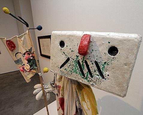 El 'ninot' denominado 'El abanderado', que el artista diseñó y pintó para la obra 'Mori el Merma'.