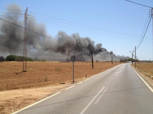 El humo podía verse a varios kilómetros de distancia.