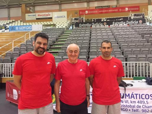 Alex Pérez, Pepe Laso y Quique Fernández.