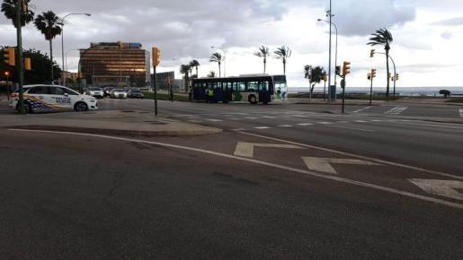 Las restricciones de tráfico se limitan en el Passeig Marítim de Palma.