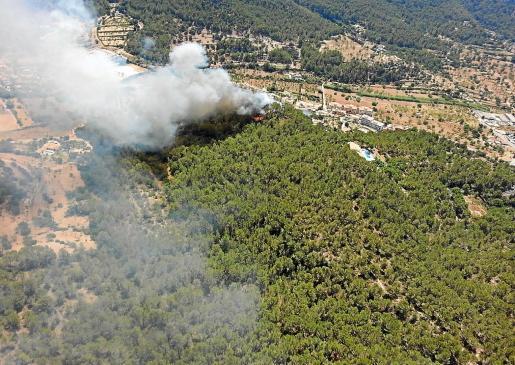 Imagen del fuego que arrasó en 2013 cerca de 2.500 hectáreas en el municipio de Calvià.