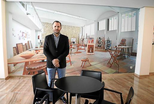 Hotel Joan Miró. El presidente de la Asociación Hotelera de Palma-Cala Mayor, Javier Vich, en el hotel Joan Miró Museum, que abrirá sus puertas en breve, indica que la apertura de hoteles será progresiva. Foto: MIQUEL ÀNGEL CAÑELLAS.