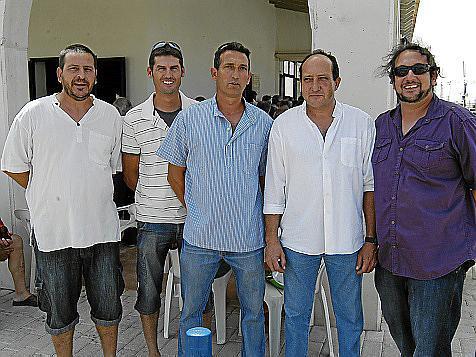 Miguel Valero, David Carsi y los hermanos Joan, Jaume y Andreu Oliver.