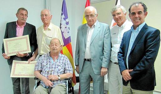 Miquel Ribot, José Coll, Tomeu Sbert, Joan Perelló Palmer, Pau Dols y Joan Jaume.