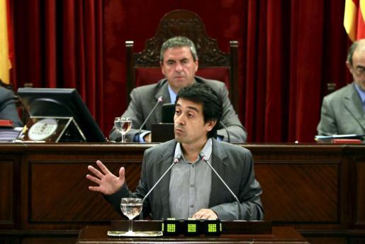 Nel Martí, en una imagen de archivo tomada durante una de sus intervenciones en el Parlament.