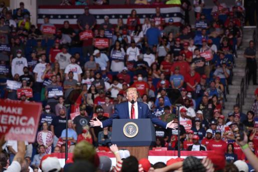 Donald Trump, durante su discurso.