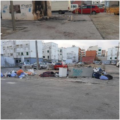 Dos imágenes del estado de Camp Redó.