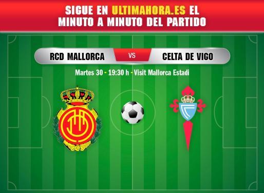 El Real Mallorca recibe este martes al Celta en Son Moix en un partido dramático.