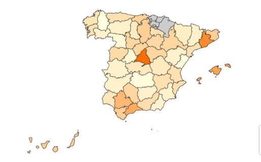 El precio del alquiler en los municipios españoles.