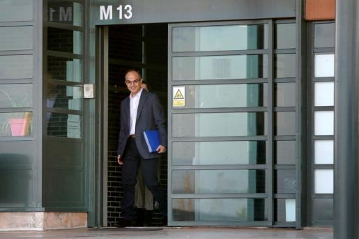 El exconseller de JxCat Jordi Turull, el pasado mes de marzo saliendo de la prisión de Lledoners para ir a trabajar, convirtiéndose así en el último de los condenados por el procés en poder abandonar la cárcel unas horas al día en aplicación del artículo 100.2 del reglamento penitenciario.