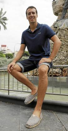 Fabián González este viernes en Plaza España.