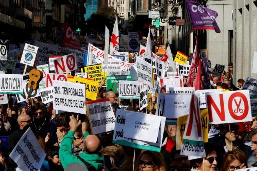 Imagen de archivo de una manifestación contra la precariedad del empleo público.