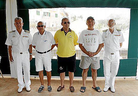 Francisco Arenas, José Antonio Muñiz, Paco Mas, Felipe Montaner y José Mª Lavilla.