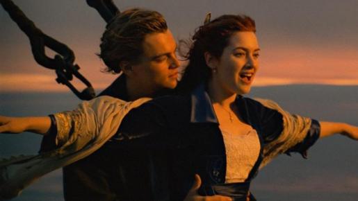 Uno de los momentos de la película 'Titanic'.