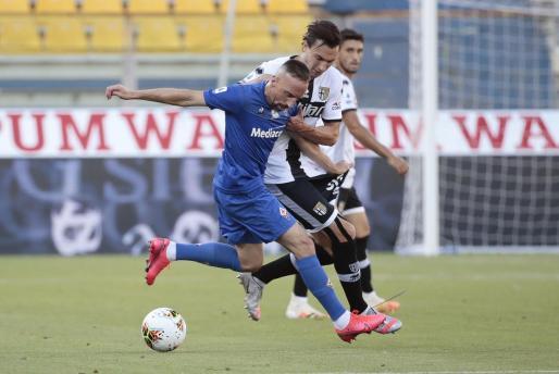 Franck Ribery durante el encuentor entre el Parma y la Fiorentina.