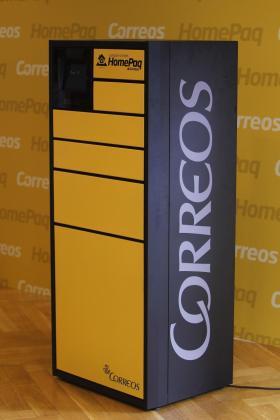 Imagen de un paquete de Correos.