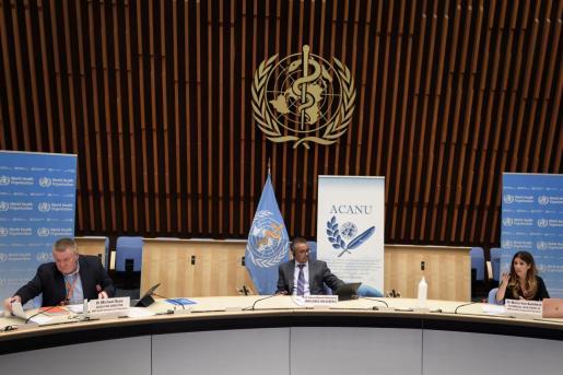 El director general de la Organización Mundial de la Salud (OMS), Tedros Adhanom Ghebreyesus, en rueda de prensa.