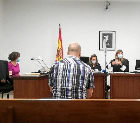 El acusado, en la vista previa, el pasado martes en Palma.
