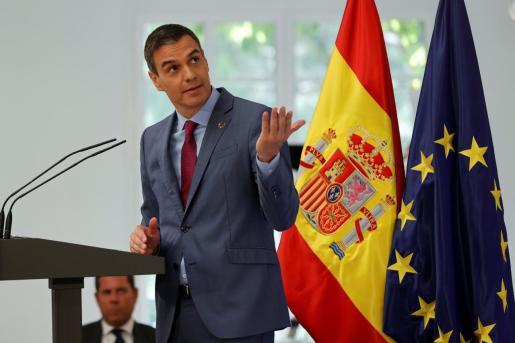 El presidente del Gobierno, Pedro Sánchez, preside el lanzamiento, este jueves, del Plan para reforzar el Sistema de Ciencia, Tecnología e Innovación en España