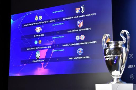 El Atlético de Madrid tiene, a priori, el camino más favorable hasta la final.
