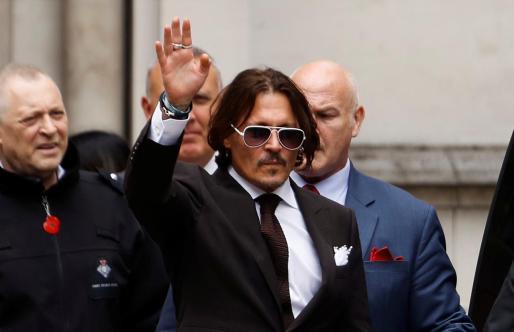 El actor Johnny Depp antes de prestar declaración.