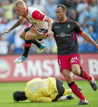 Iván Ramis, en una imagen captada ayer durante el partido disputado ante el Feyenoord.
