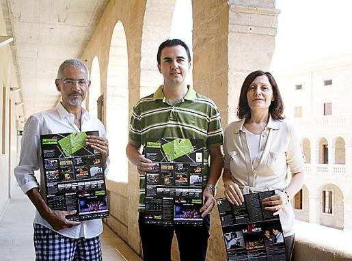 Antoni Picó, Guillem Crespí y Catalina Sureda.
