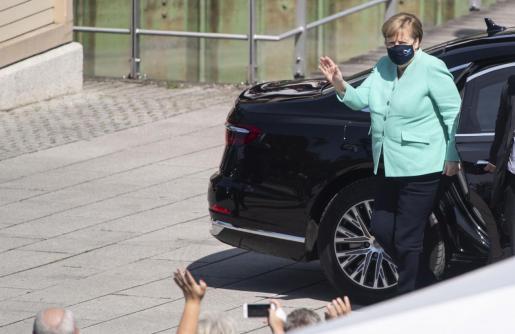Angela Merkel, este martes en Prien.