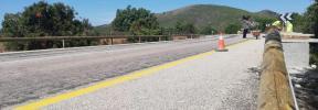 Barrera en Cala Varques contra el aparcamiento irregular
