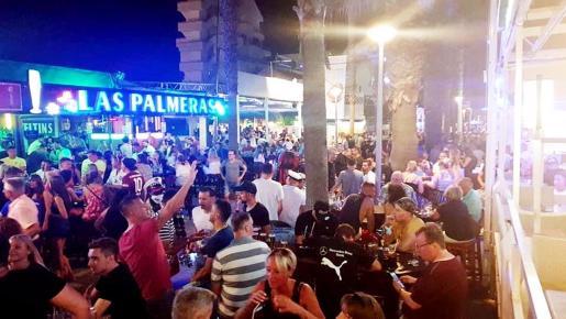 Imagen del viernes pasado en la Playa de Palma.