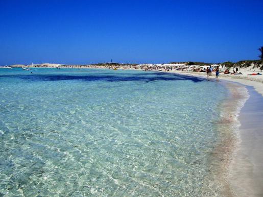 Playa de ses Illetes en Formentera.