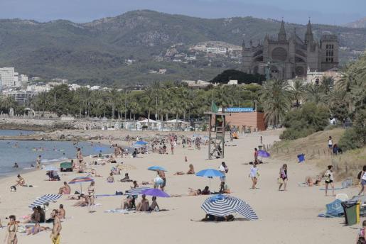 Las playas palmesanas de Can Pere Antoni y Ciutat Jardí han reabierto este jueves.