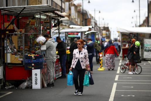 Imagen de una calle de Londres este jueves.